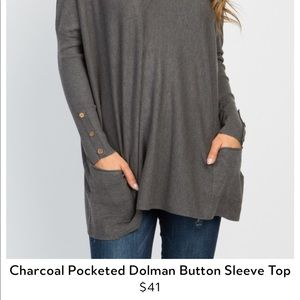 Dolman sleeve top with pockets